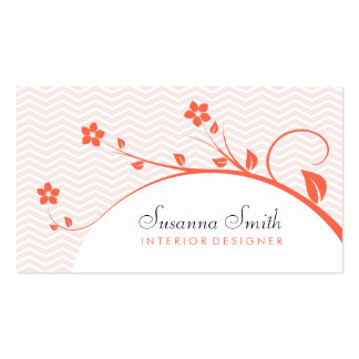 Elegant card of business with flowers and chevrón business card templates