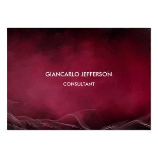 Elegant Carmine Red Minimalist Professional Chubby Large Business Card