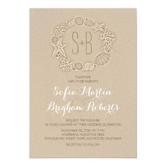 Elegant Casual Beach Wedding Invitations
