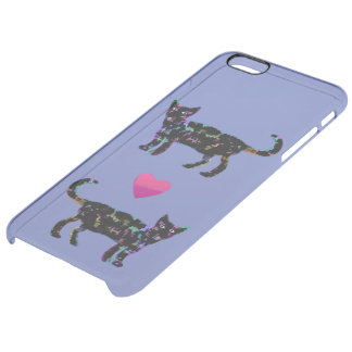 Elegant Cat iPhone 6 Plus Clearly™ Deflector Case Uncommon Clearly™ Deflector iPhone 6 Plus Case