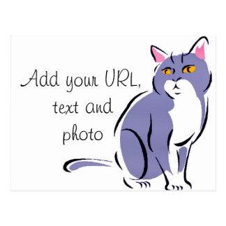 Elegant Cat Postcard