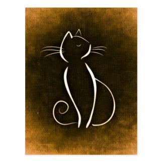 Elegant Cat, Snooty Cat Postcard