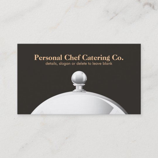 Elegant catering company cloche business card zazzle elegant catering company cloche business card reheart Image collections