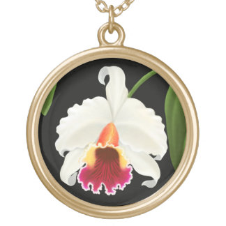 Elegant Cattleya Corsage Orchid Necklace