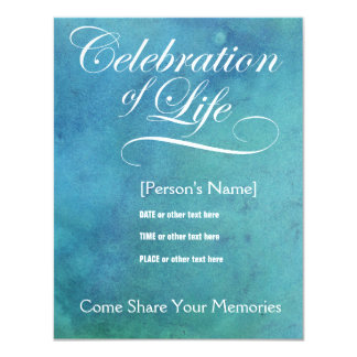 Elegant Celebration of Life Memorial Invitation
