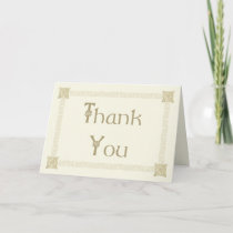 Elegant Celtic Knot Thank You Card in Ivory