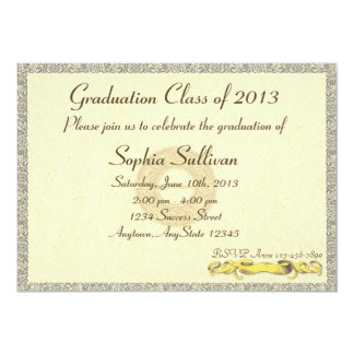 Elegant Certificate Diploma Style Graduation Card