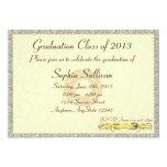 Elegant Certificate Diploma Style Graduation 5x7 Paper Invitation Card