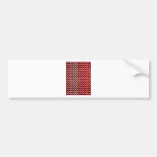 Elegant Chain work in Red n Green Graphic Pattern Bumper Stickers