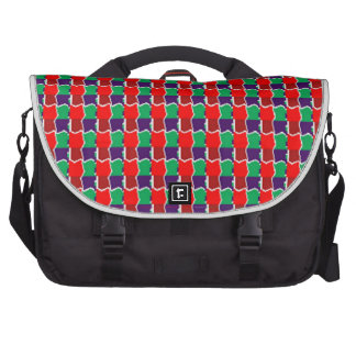 Elegant Chain work in Red n Green Graphic Pattern Bags For Laptop