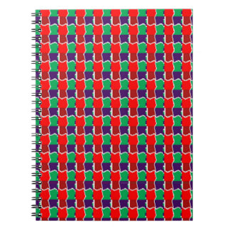 Elegant Chain work in Red n Green Graphic Pattern Note Book