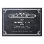 Elegant Chalkboard Art Deco Bridal Shower Personalized Invitations