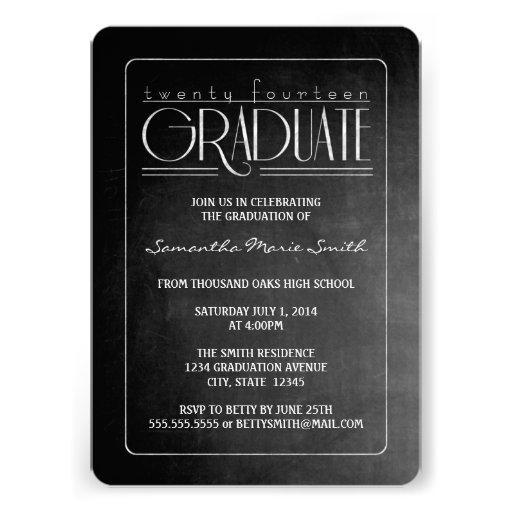 Elegant Chalkboard Graduation Invite