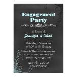 Elegant Chalkboard Look Engagement Party Custom 5x7 Paper Invitation Card