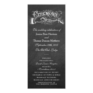 Elegant Chalkboard Wedding Ceremony Programs