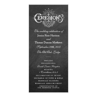 Elegant Chalkboard Wedding Ceremony Programs Custom Rack Cards
