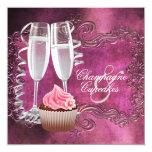 Elegant Champagne and Cupcake Bridal Shower Invite