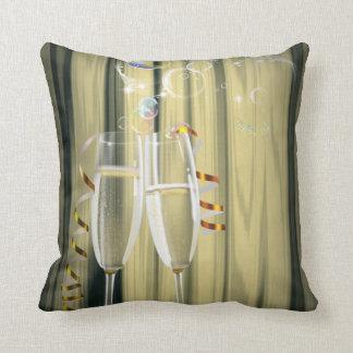 elegant Champagne glasses celebration party Pillows