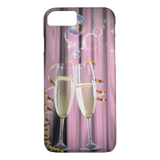 elegant champagne glasses modern party girl iPhone 8/7 case