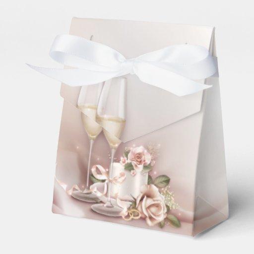 Elegant Champagne Wedding Favor Box | Zazzle