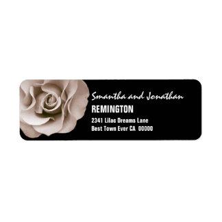 Elegant Champagne Wedding Rose Modern Typeface V07 Label