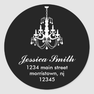 Elegant Chandelier Address Labels Stickers