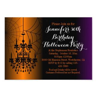 Elegant Chandelier Birthday Halloween Party Card