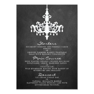 Elegant Chandelier Chalkboard Wedding Collection Card