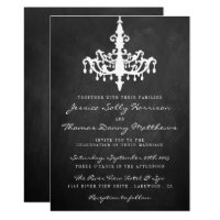 Elegant Chandelier Chalkboard Wedding Collection Invitation
