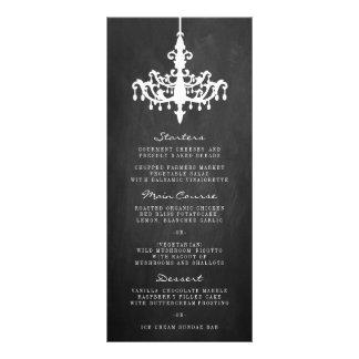 Elegant Chandelier Chalkboard Wedding Collection Rack Card