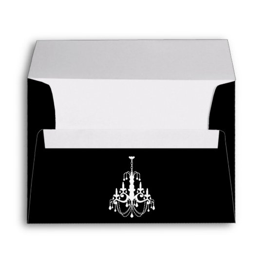 Elegant Chandelier Envelope