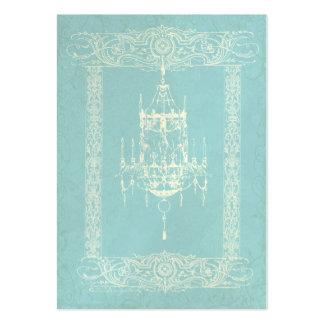 Elegant Chandelier & Filigree Custom Business Card