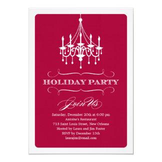 Elegant Chandelier Holiday Party Invitation Invite