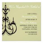 "Elegant Chandelier Housewarming Party Invitation 5.25"" Square Invitation Card"