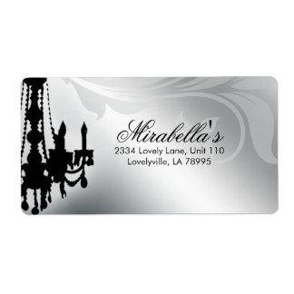 Elegant Chandelier Salon Real Estate Silver Leaf Label