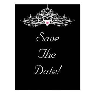 Elegant Chandelier Save The Date Wedding Postcard