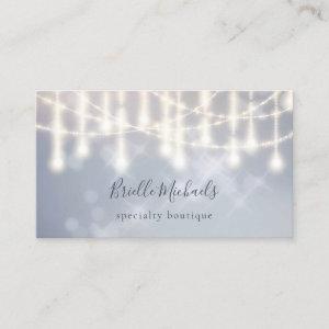 Elegant Chandelier Sparkle Twinkle Lights Bokeh Business Card