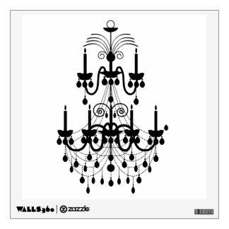 elegant chandelier vintage decorative wall decal