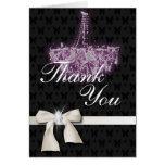 Elegant Chandelier Wedding Thank You Card