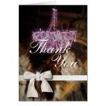 Elegant Chandelier Wedding thank you Card template
