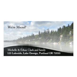 Elegant Change of Address Custom Photo Card