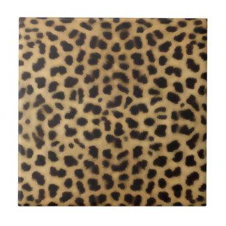 Elegant Cheetah Fur Pattern Tile