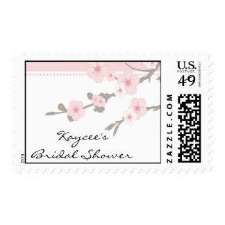 Elegant Cherry Blossom Bride Bridal Shower Postage Stamp