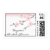 Elegant Cherry Blossom Bride Bridal Shower Stamps
