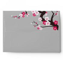 Elegant Cherry Blossom Pink floral  envelop Envelope