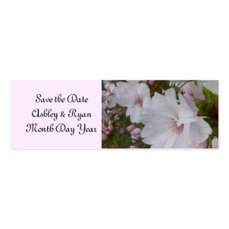 Elegant Cherry Blossom Save the Date Mini Business Card