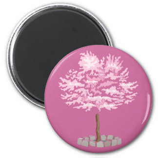 Elegant Cherry Blossom Tree Magnet