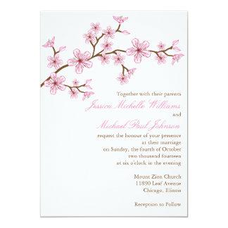 Elegant Cherry Blossom Wedding Personalized Invite