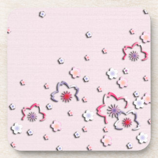 Elegant cherry blossoms drink coaster