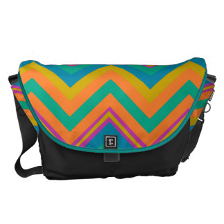 elegant chevron courier bag